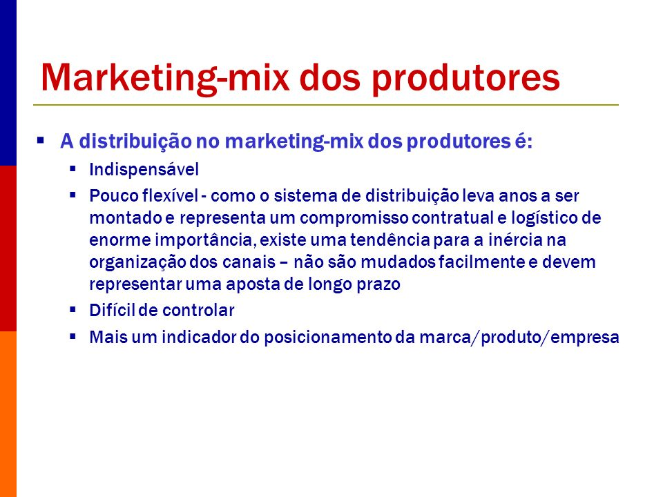 Marketing-mix dos produtores