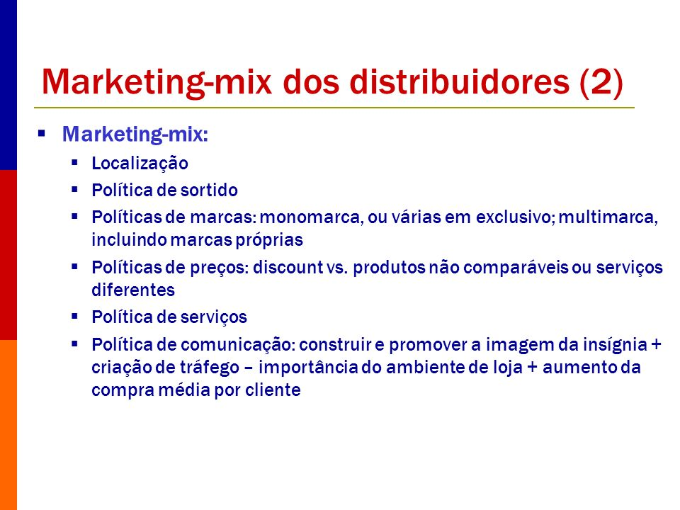 Marketing-mix dos distribuidores (2)