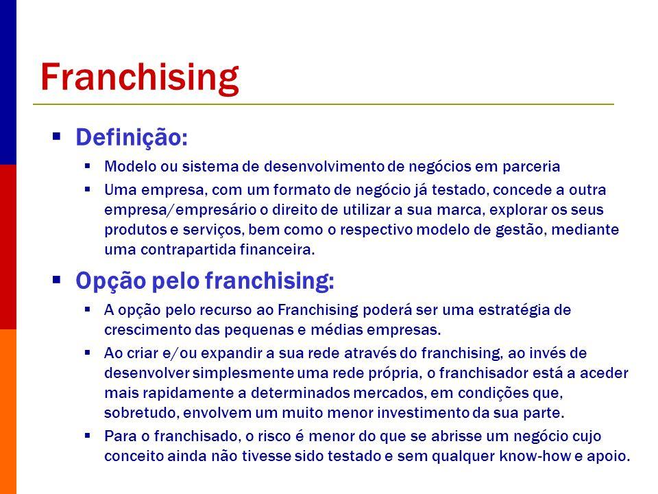 Franchising Definição: Opção pelo franchising: