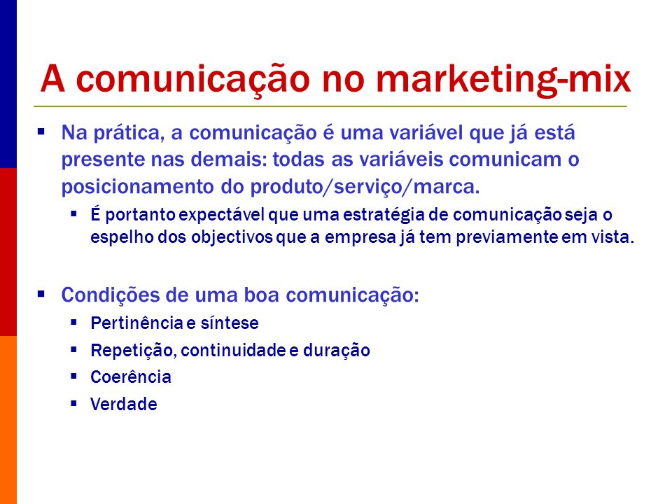 A comunicação no marketing-mix
