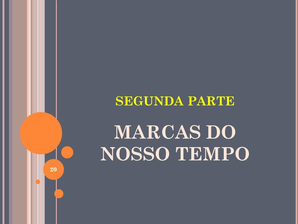 SEGUNDA PARTE MARCAS DO NOSSO TEMPO