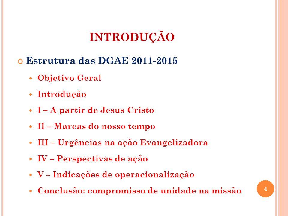 INTRODUÇÃO Estrutura das DGAE 2011-2015 Objetivo Geral Introdução