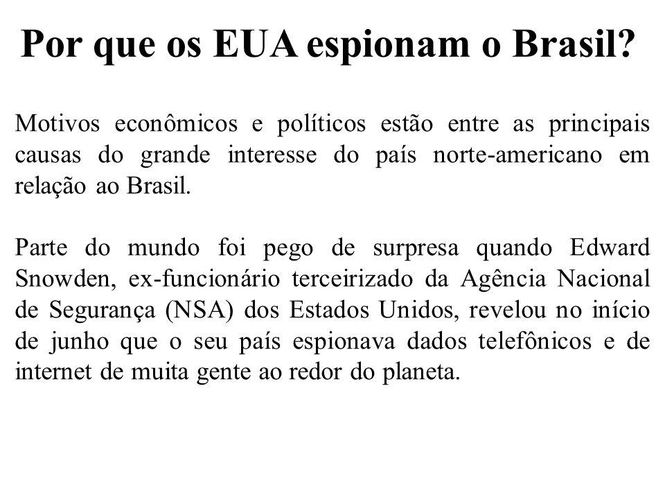 Por que os EUA espionam o Brasil