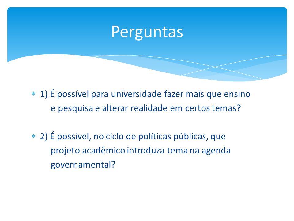 Perguntas 1) É possível para universidade fazer mais que ensino