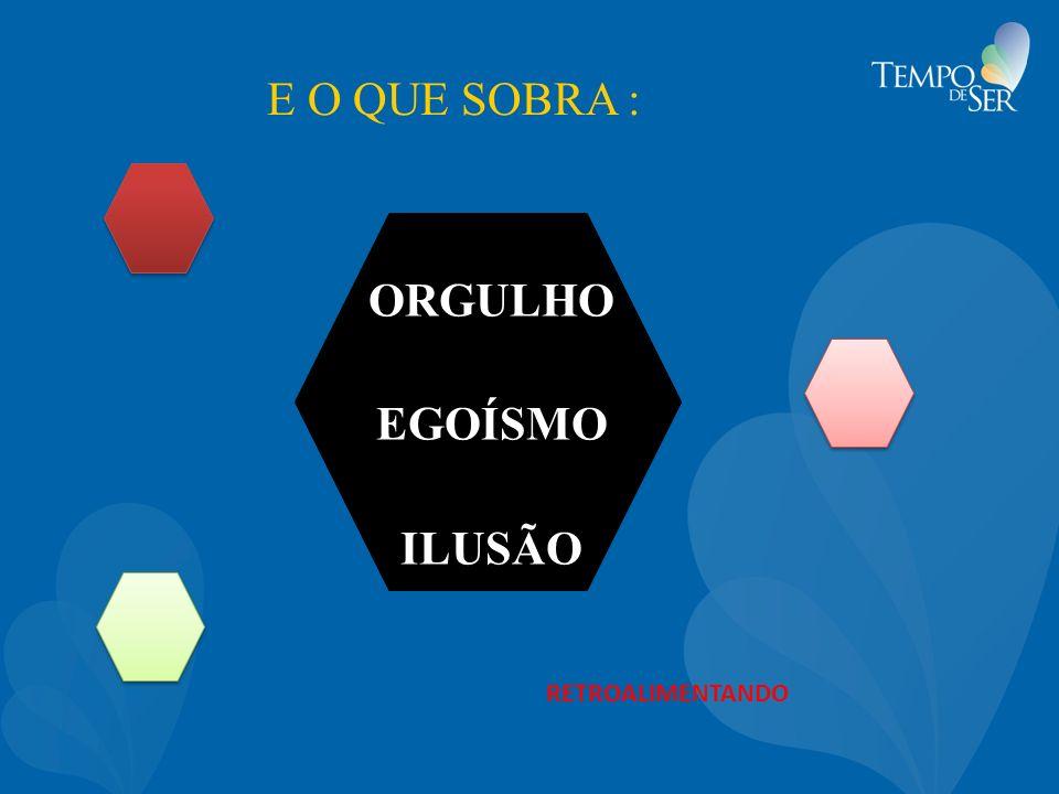 ORGULHO EGOÍSMO ILUSÃO