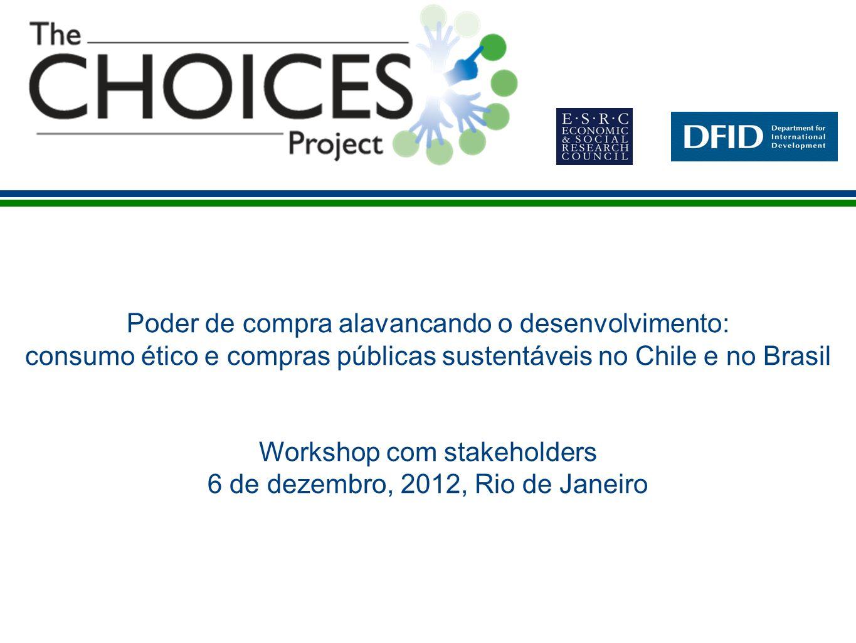 Workshop com stakeholders 6 de dezembro, 2012, Rio de Janeiro