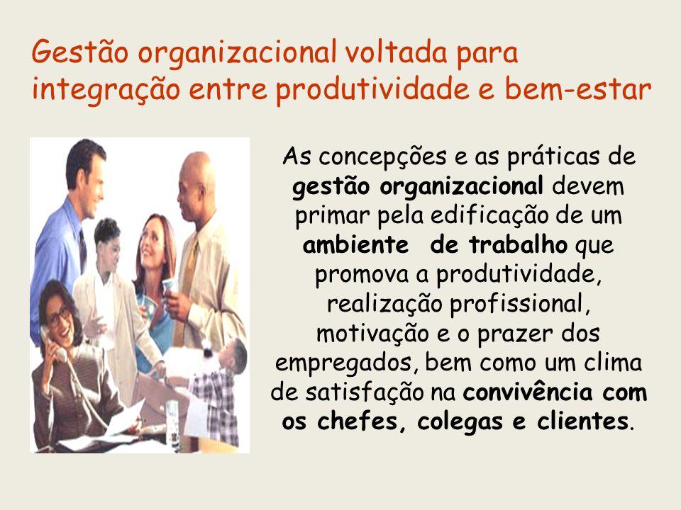 Gestão organizacional voltada para integração entre produtividade e bem-estar