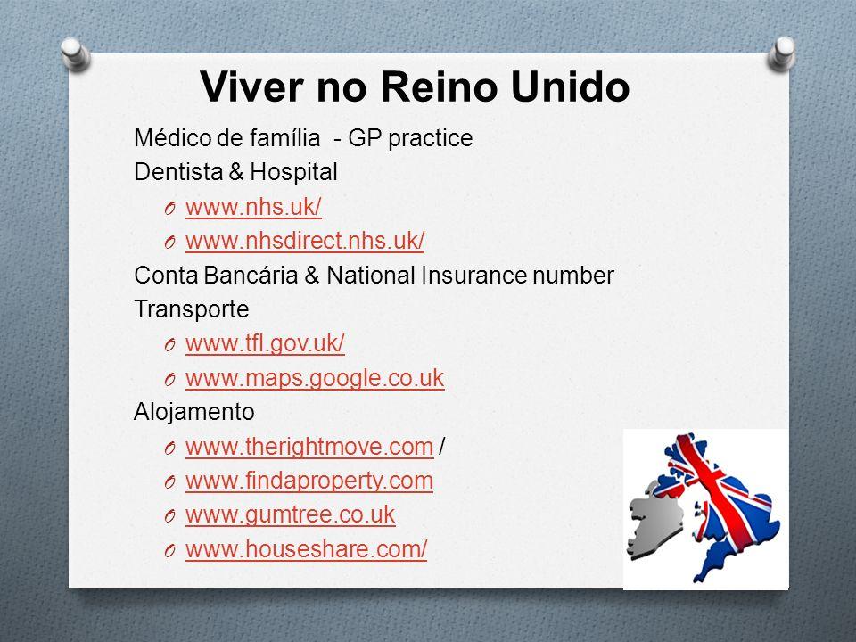 Viver no Reino Unido Médico de família - GP practice