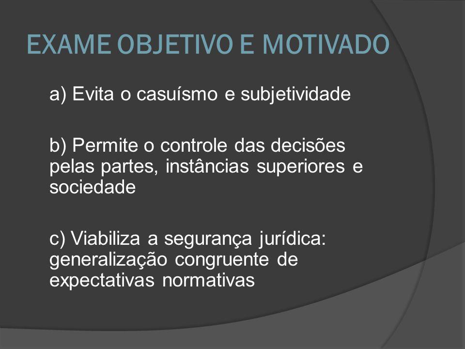 EXAME OBJETIVO E MOTIVADO