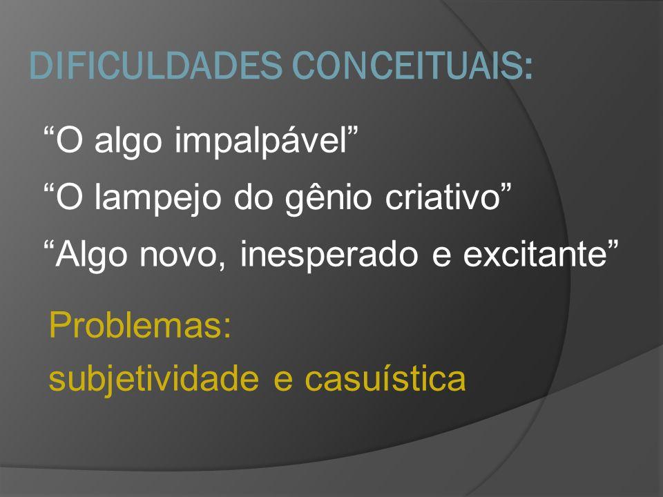 DIFICULDADES CONCEITUAIS: