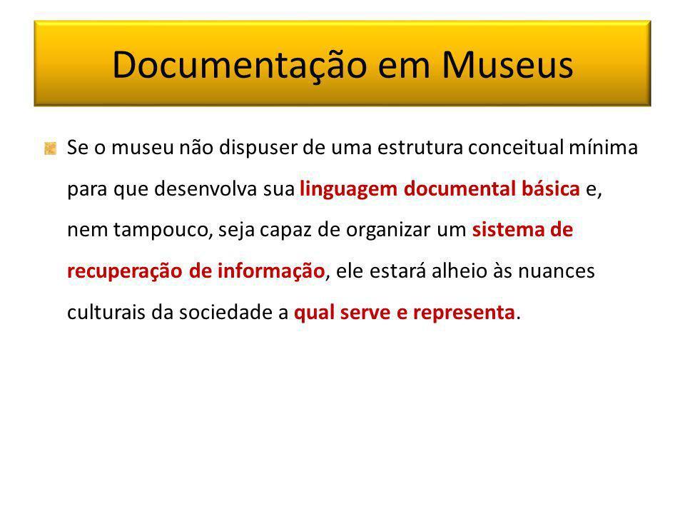 Documentação em Museus