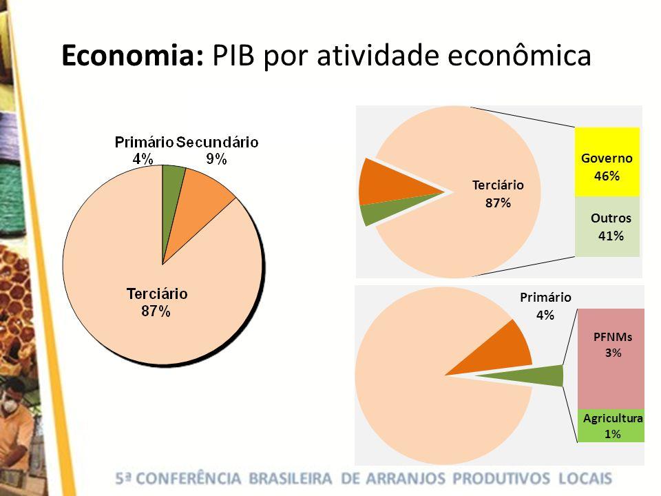 Economia: PIB por atividade econômica