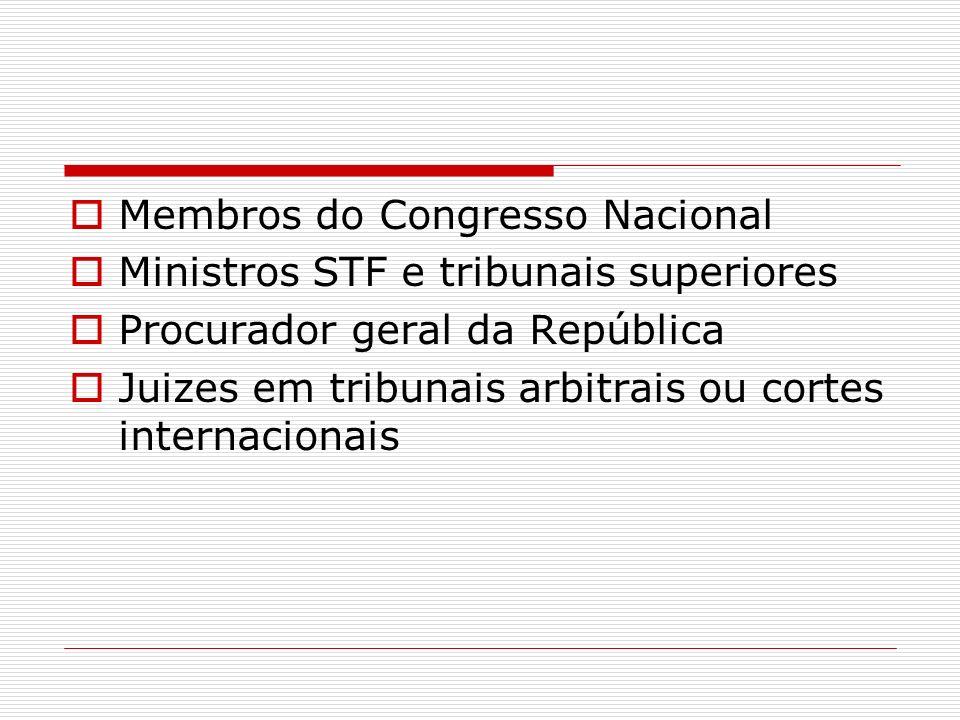 Membros do Congresso Nacional