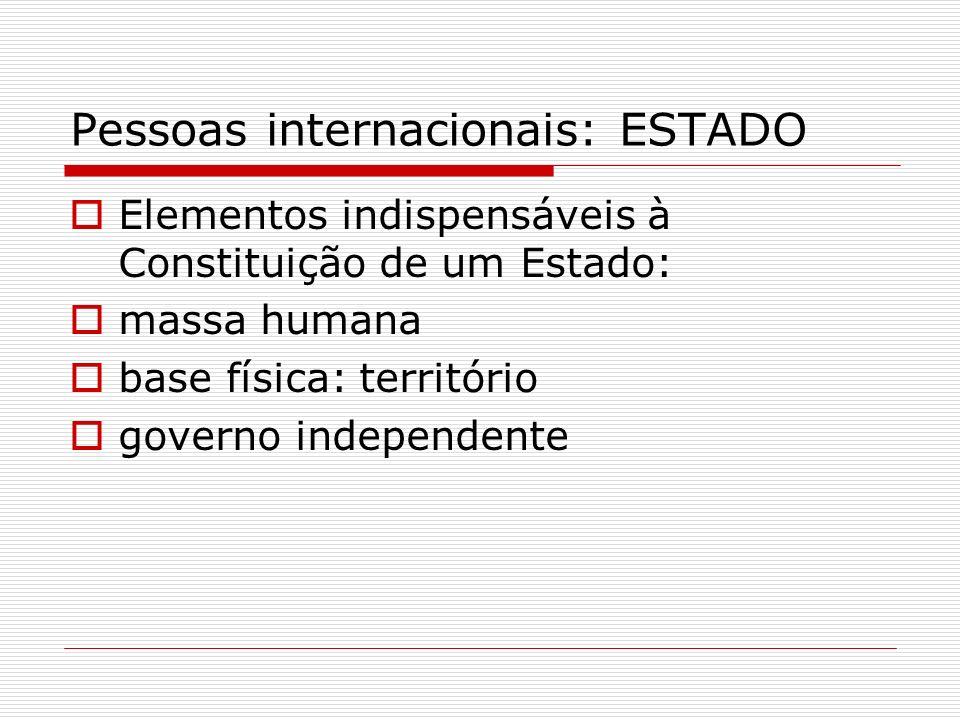 Pessoas internacionais: ESTADO