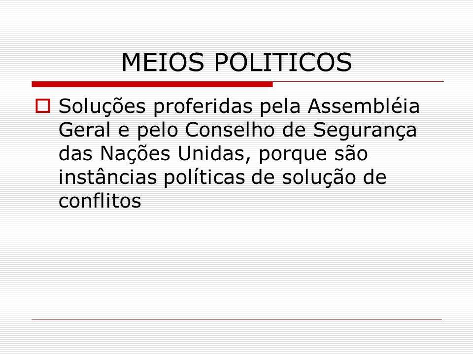 MEIOS POLITICOS