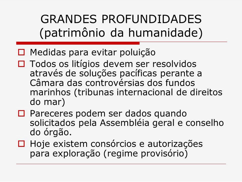 GRANDES PROFUNDIDADES (patrimônio da humanidade)