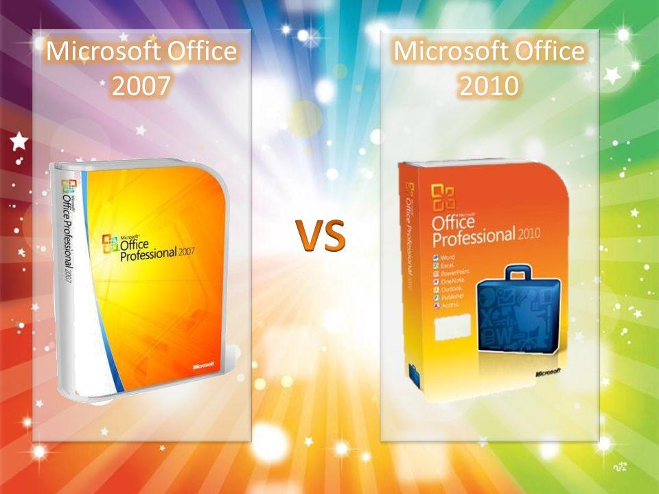 Microsoft Office 2007 Microsoft Office 2010 VS