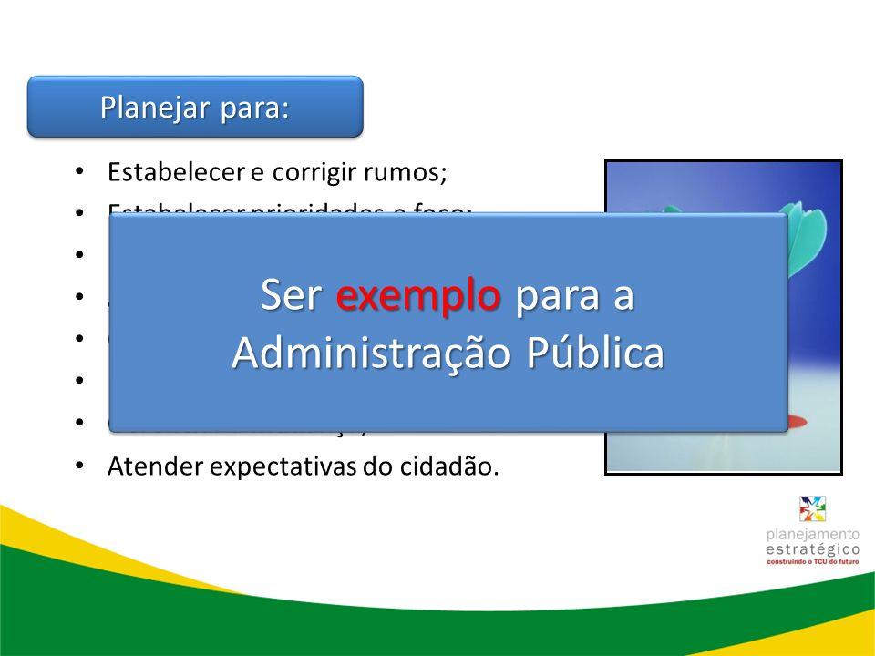 Ser exemplo para a Administração Pública