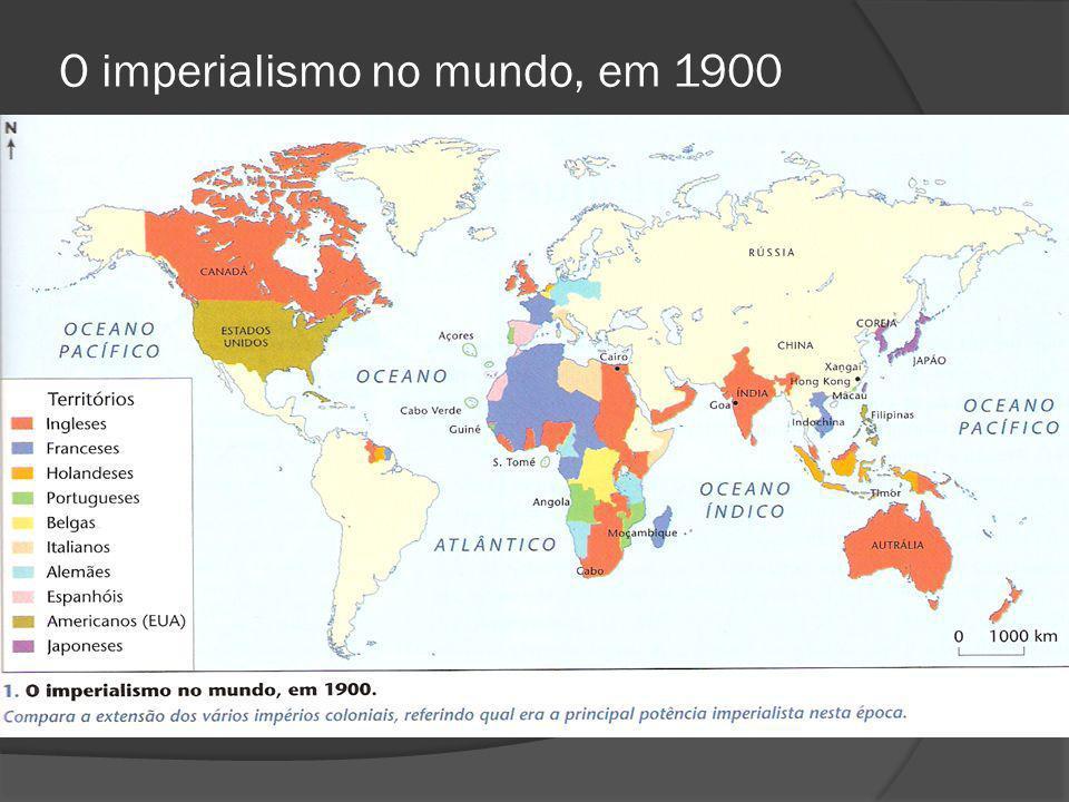 O imperialismo no mundo, em 1900