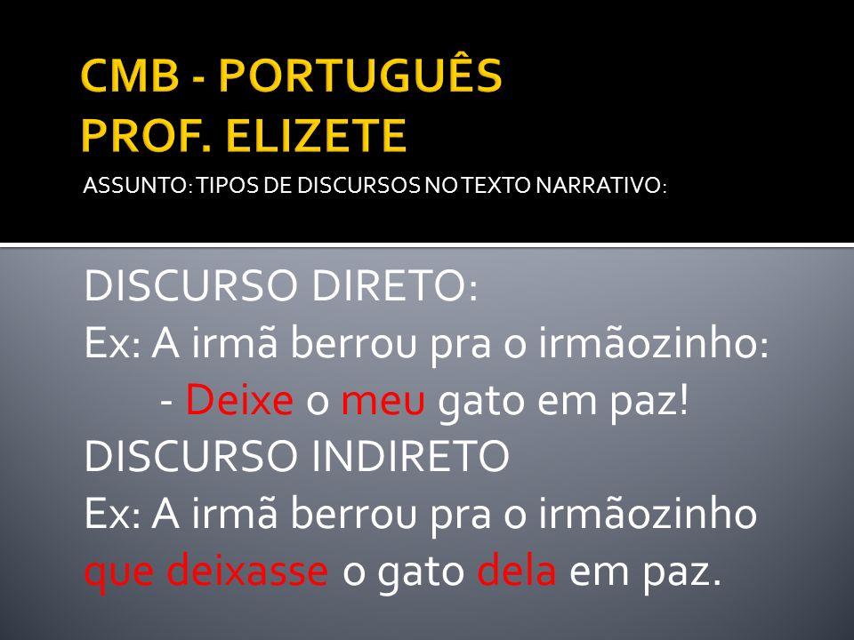 CMB - PORTUGUÊS PROF. ELIZETE