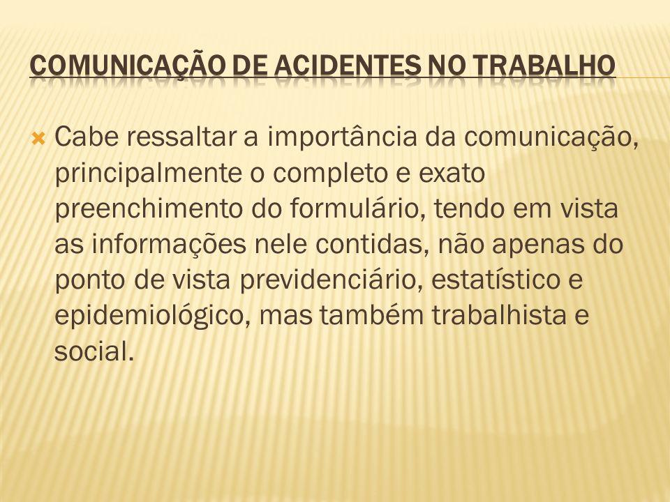 Comunicação de acidentes no Trabalho