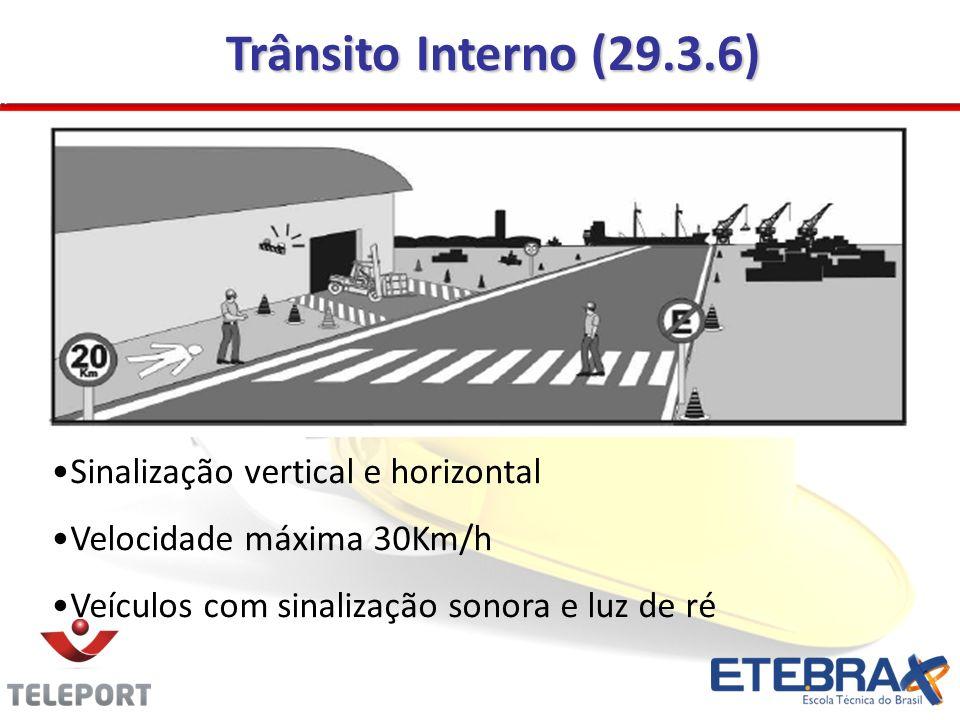 Trânsito Interno (29.3.6) Sinalização vertical e horizontal