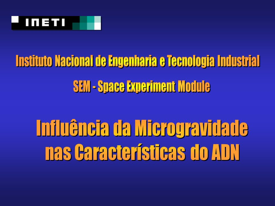 Instituto Nacional de Engenharia e Tecnologia Industrial