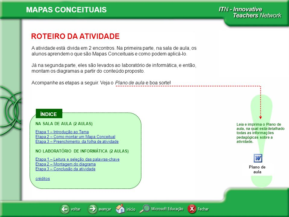 ROTEIRO DA ATIVIDADE