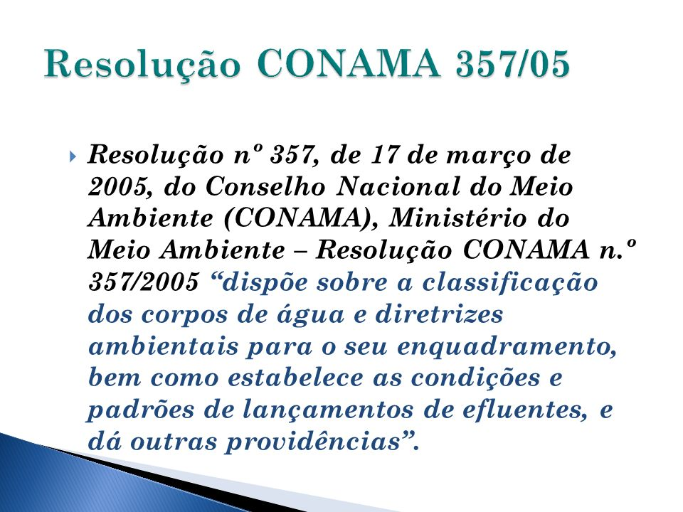Resolução CONAMA 357/05