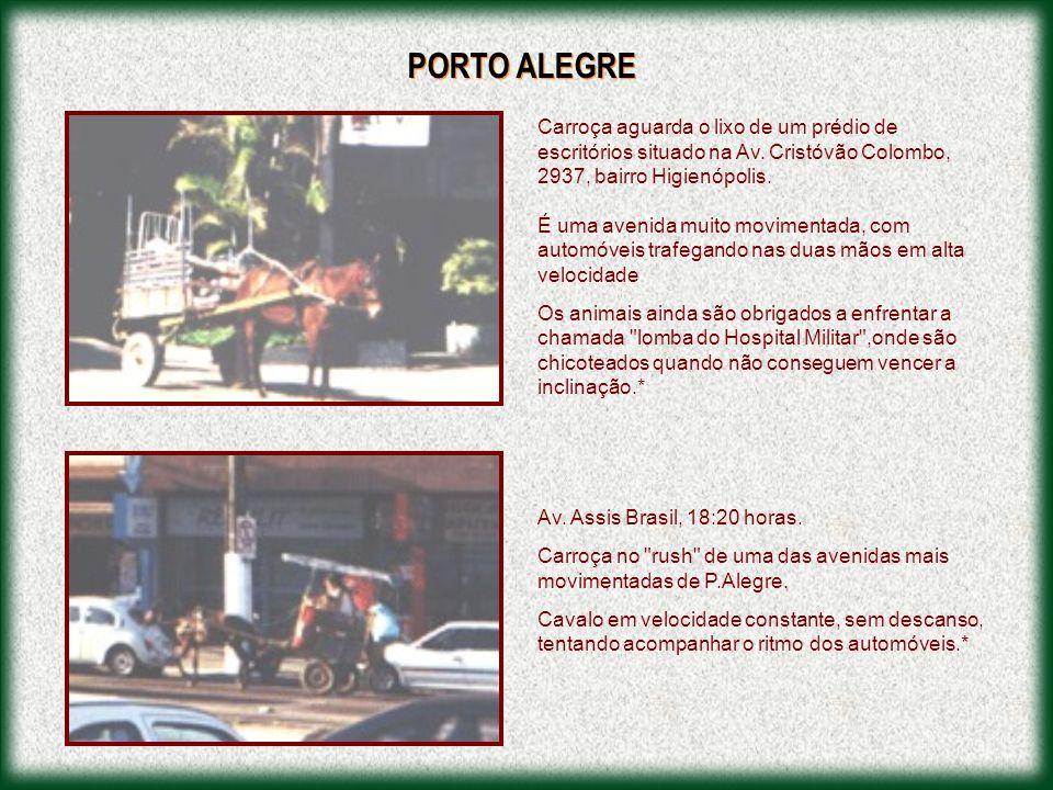 PORTO ALEGRE Carroça aguarda o lixo de um prédio de escritórios situado na Av. Cristóvão Colombo, 2937, bairro Higienópolis.
