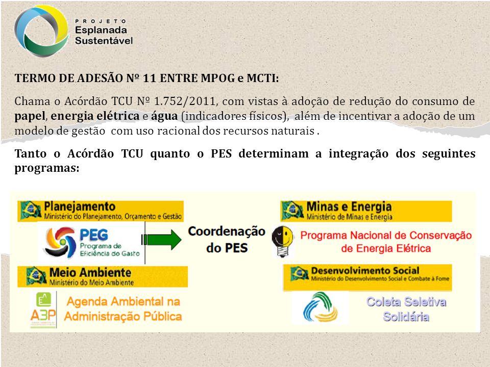 TERMO DE ADESÃO Nº 11 ENTRE MPOG e MCTI: