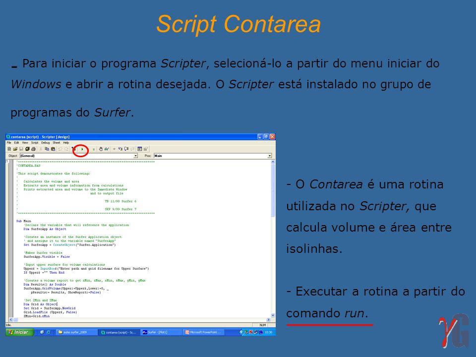 Script Contarea
