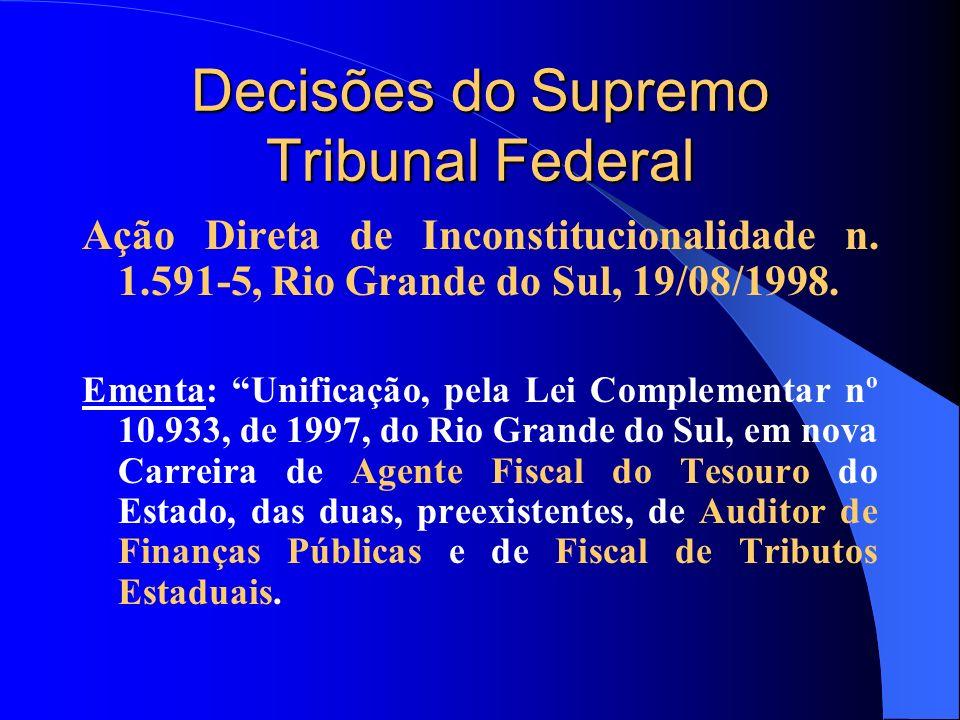 Decisões do Supremo Tribunal Federal