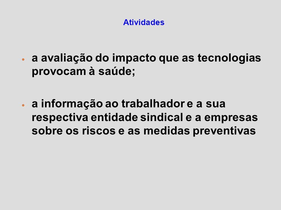 a avaliação do impacto que as tecnologias provocam à saúde;
