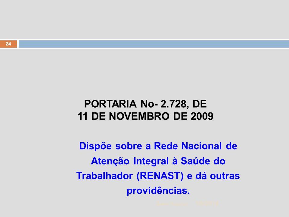 PORTARIA No- 2.728, DE 11 DE NOVEMBRO DE 2009