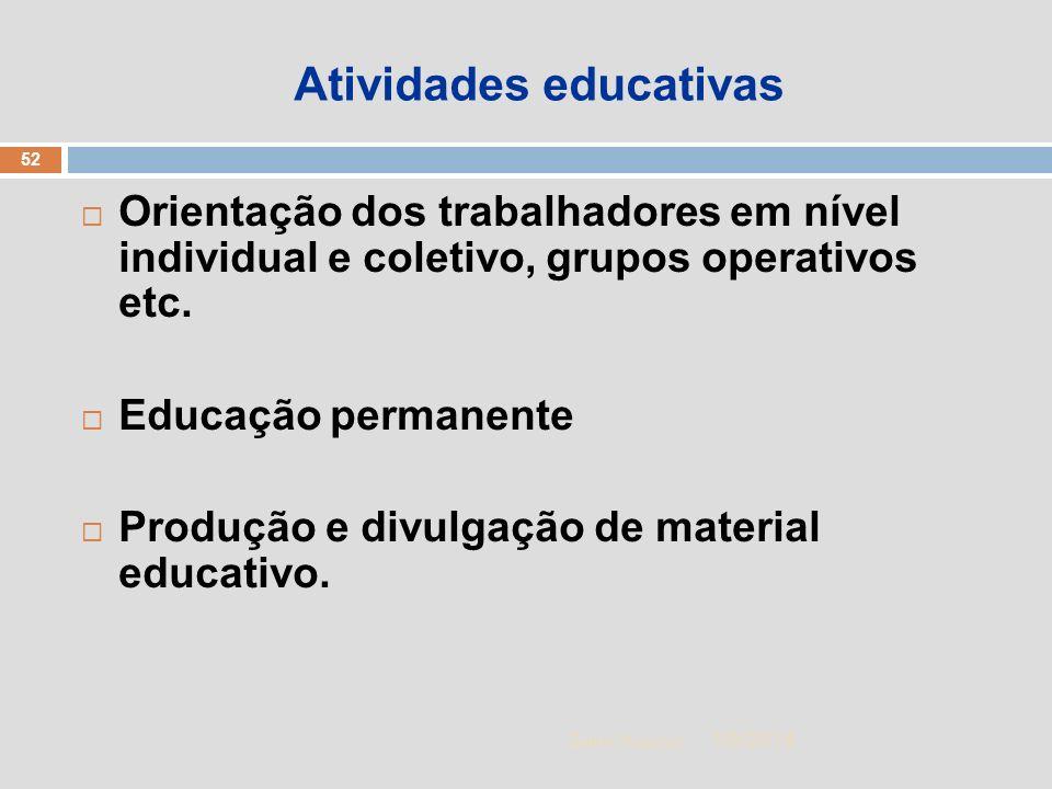 Atividades educativas