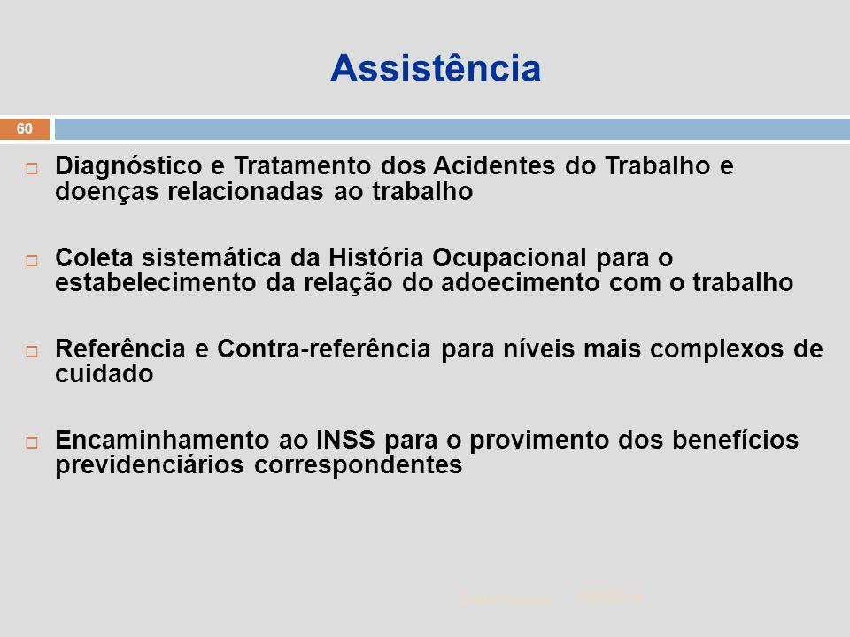 Assistência Diagnóstico e Tratamento dos Acidentes do Trabalho e doenças relacionadas ao trabalho.