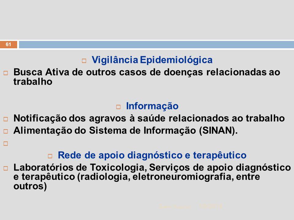 Vigilância Epidemiológica Rede de apoio diagnóstico e terapêutico