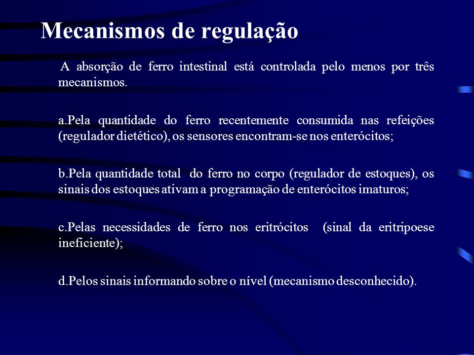 Mecanismos de regulação