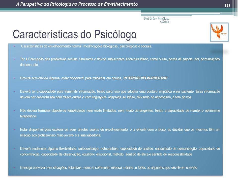 Características do Psicólogo