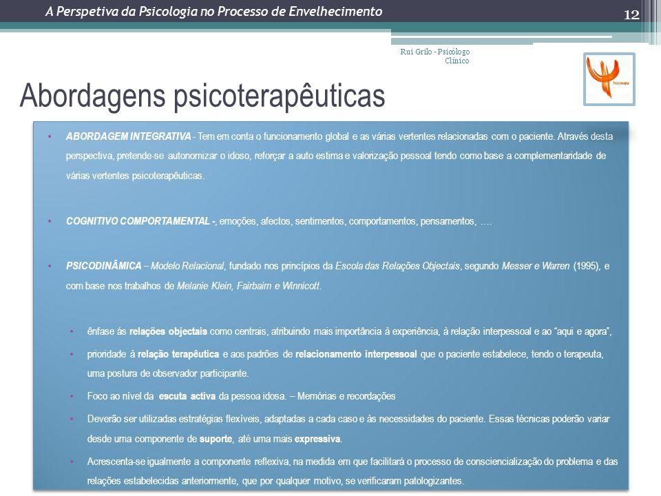 Abordagens psicoterapêuticas