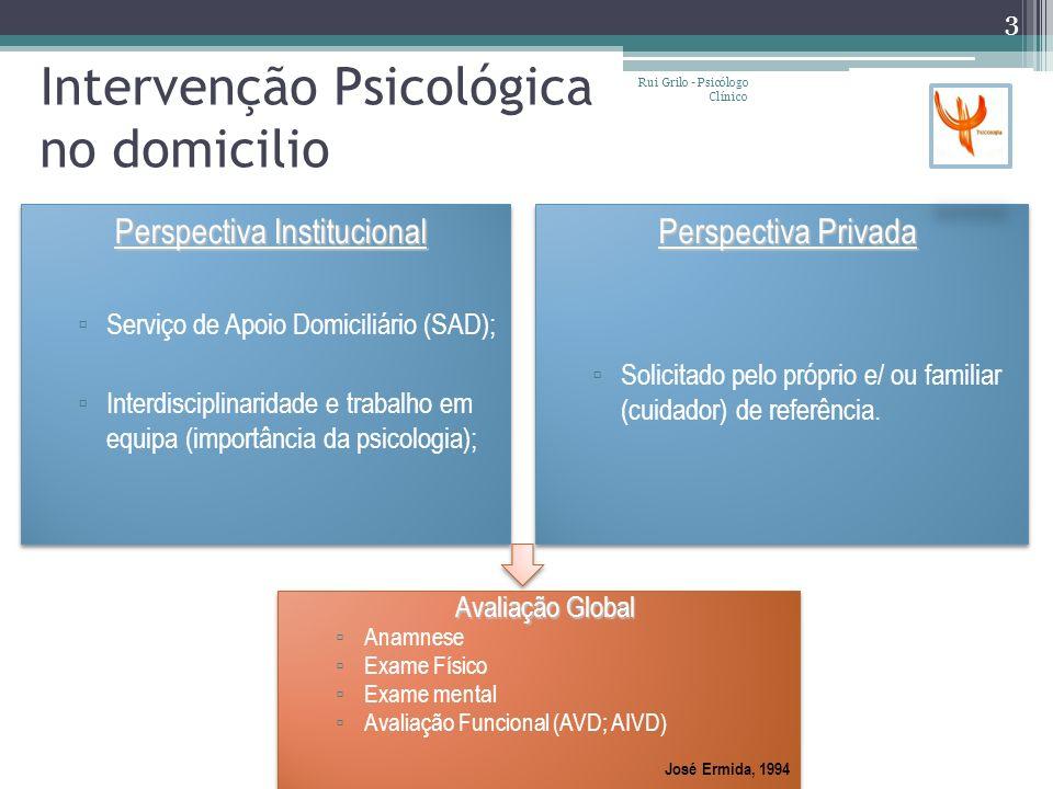 Intervenção Psicológica no domicilio