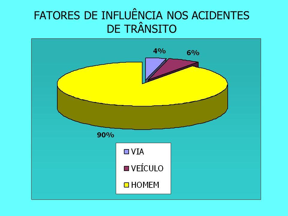 FATORES DE INFLUÊNCIA NOS ACIDENTES DE TRÂNSITO
