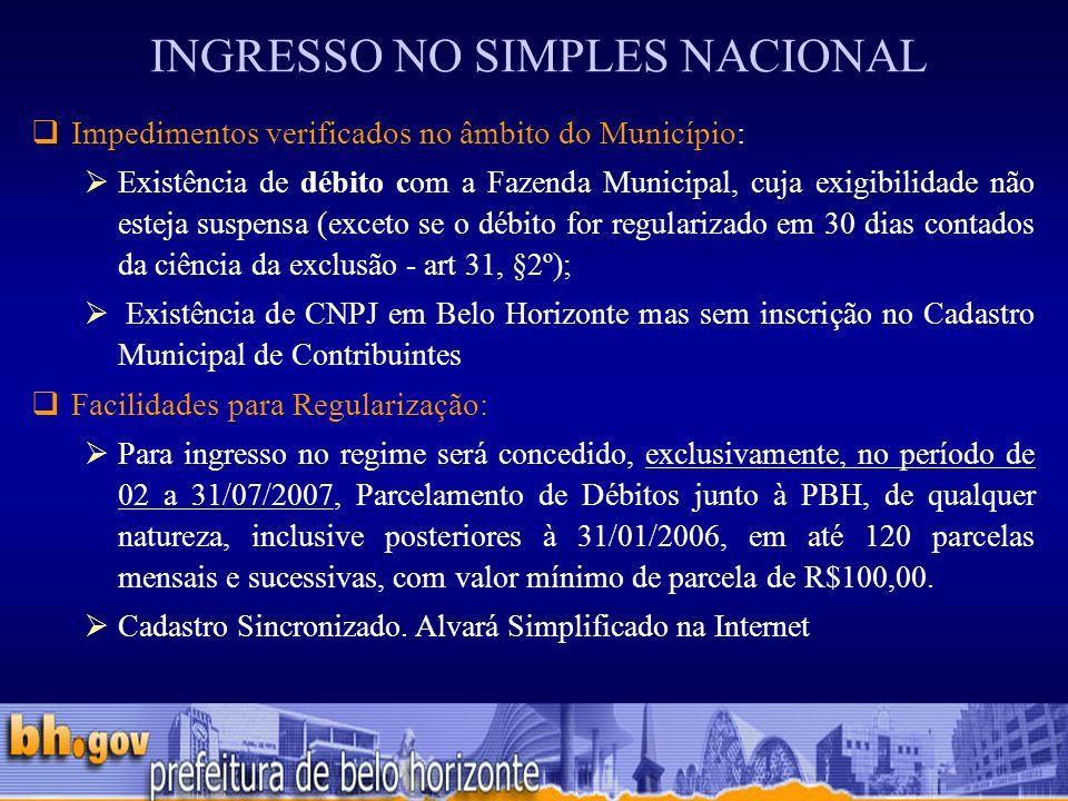 INGRESSO NO SIMPLES NACIONAL