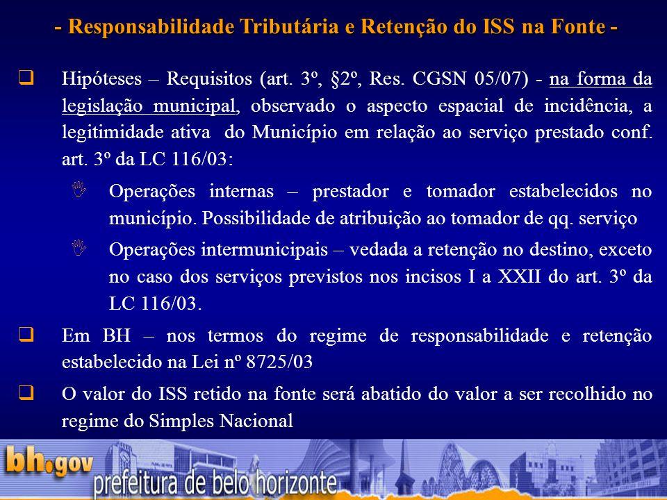- Responsabilidade Tributária e Retenção do ISS na Fonte -