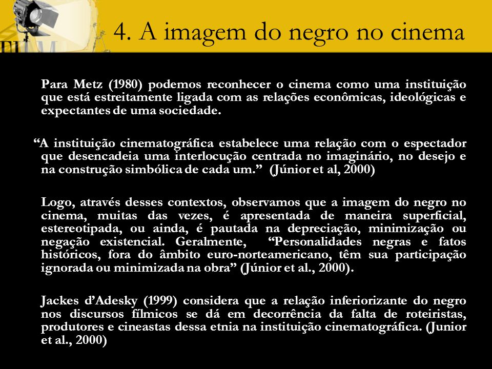 4. A imagem do negro no cinema