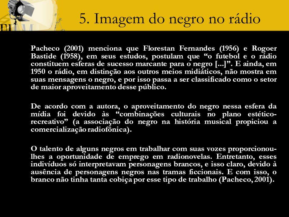 5. Imagem do negro no rádio