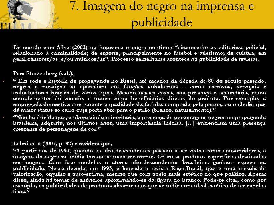 7. Imagem do negro na imprensa e publicidade