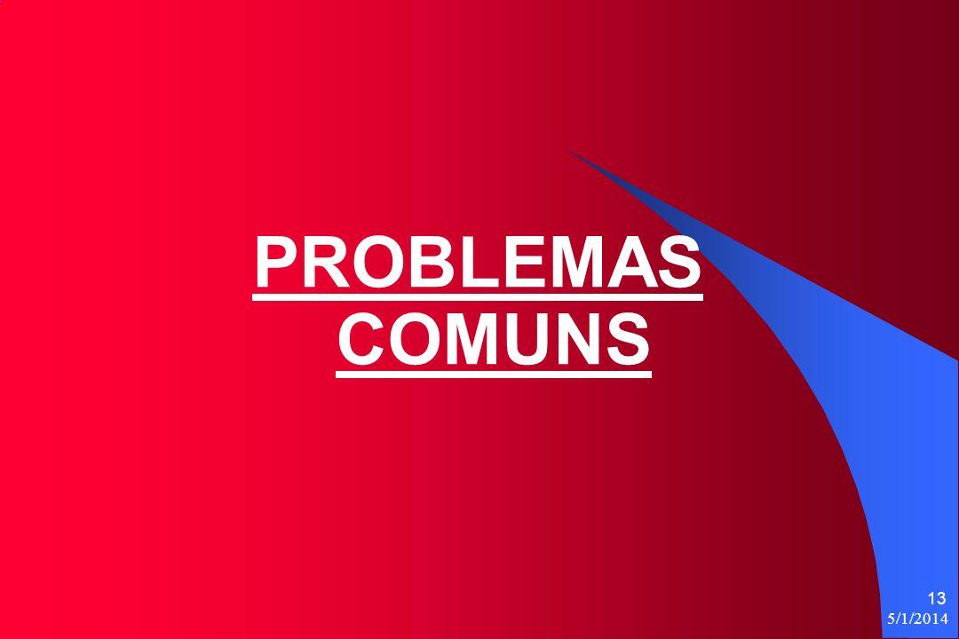 PROBLEMAS COMUNS 3/30/2017