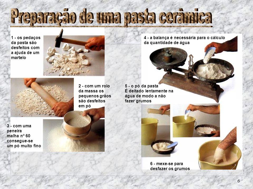 Preparação de uma pasta cerâmica